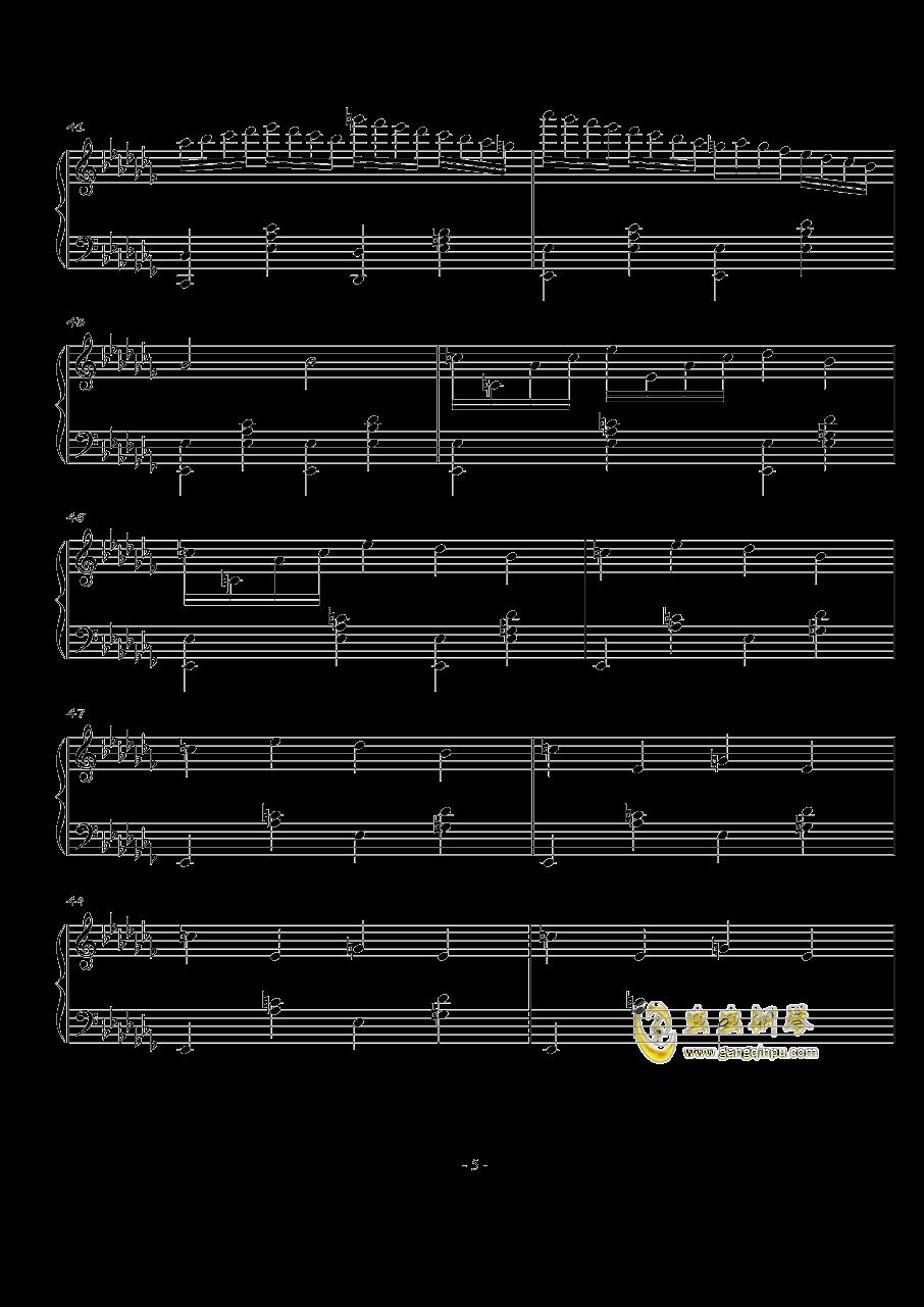 火星音阶练习曲Op.2 No.1钢琴谱 第5页