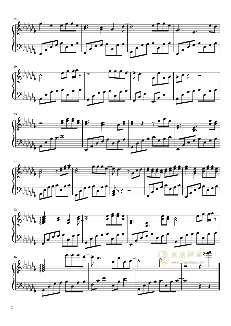 故梦钢琴谱 第2页