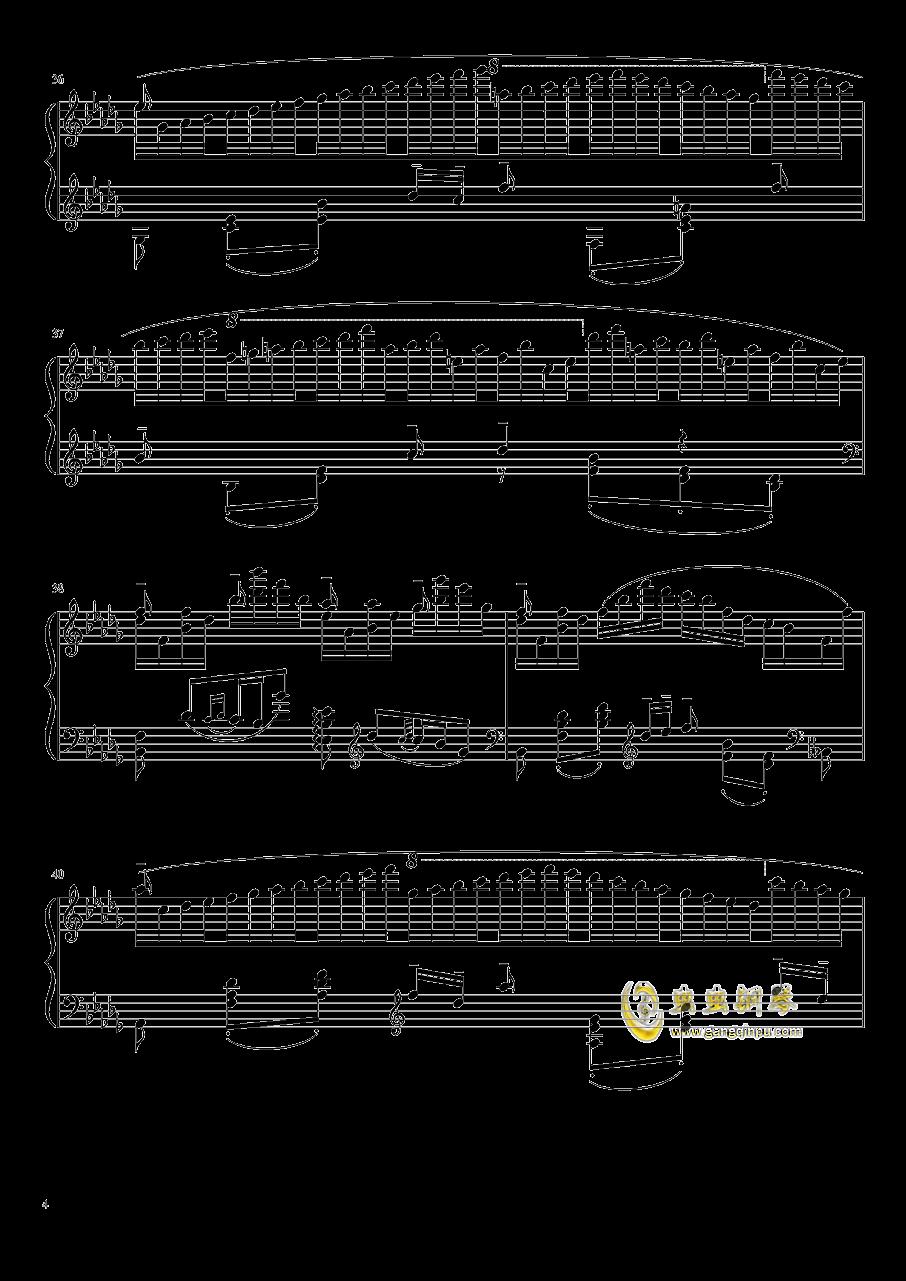 百灵鸟钢琴谱 第4页