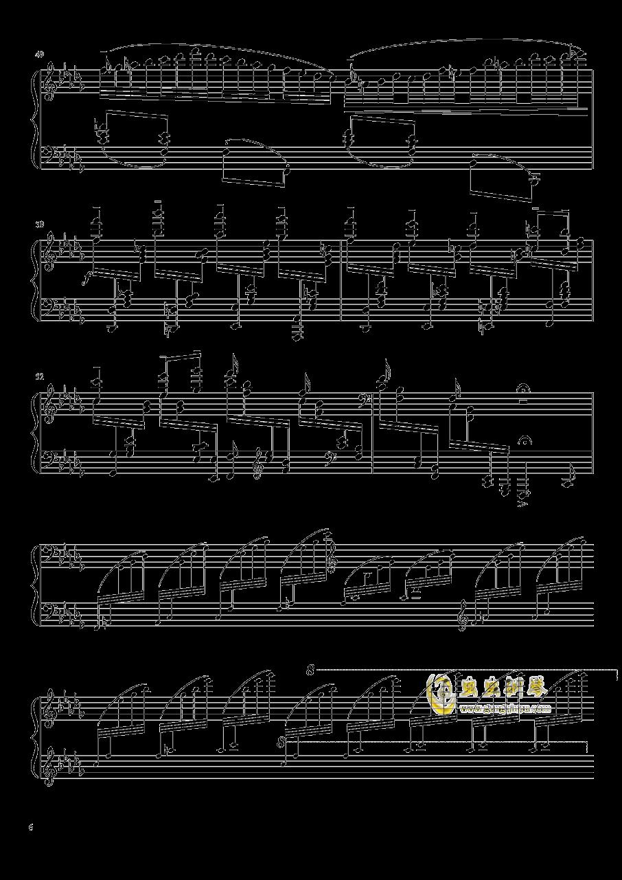 百灵鸟钢琴谱 第6页
