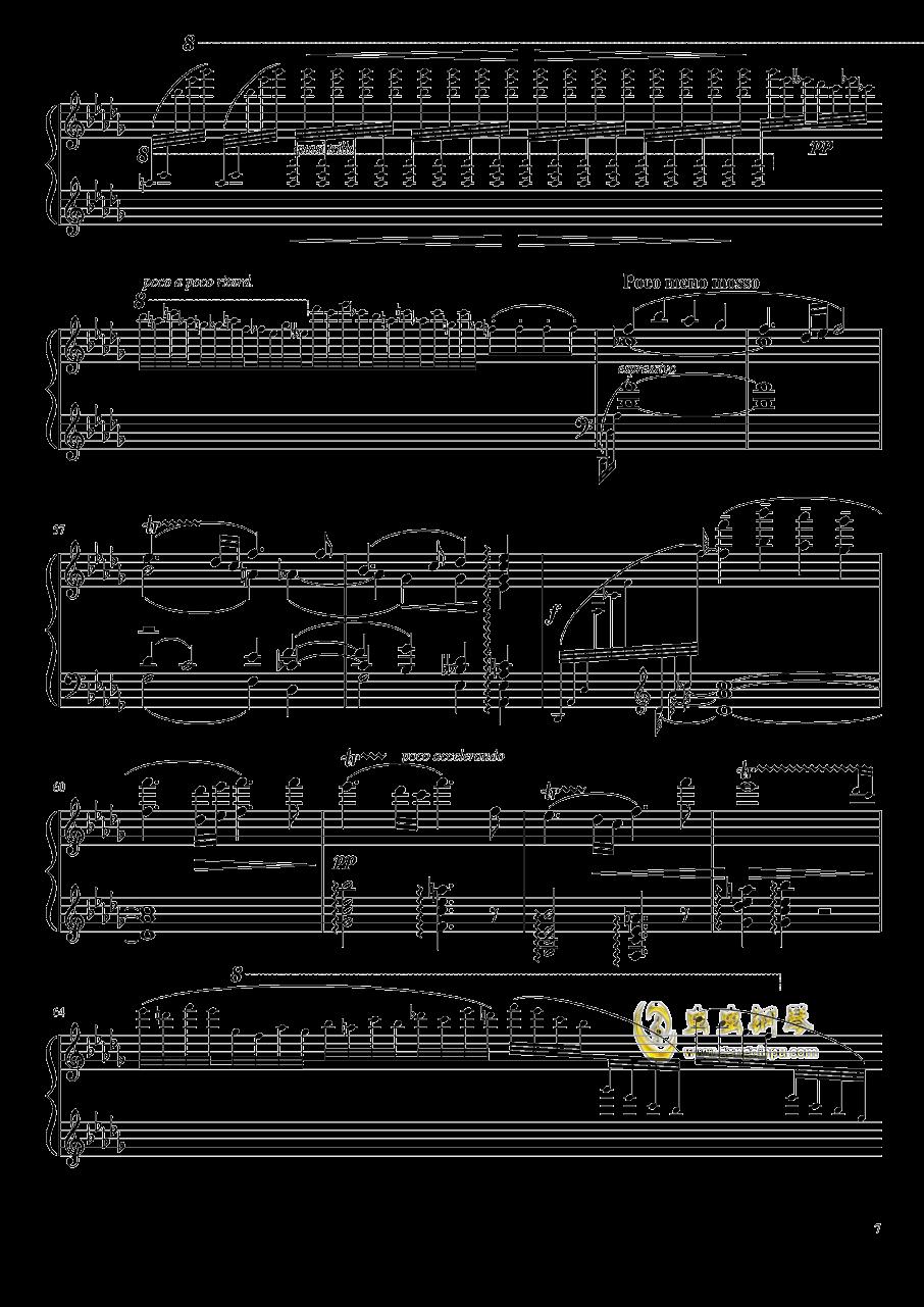 百灵鸟钢琴谱 第7页
