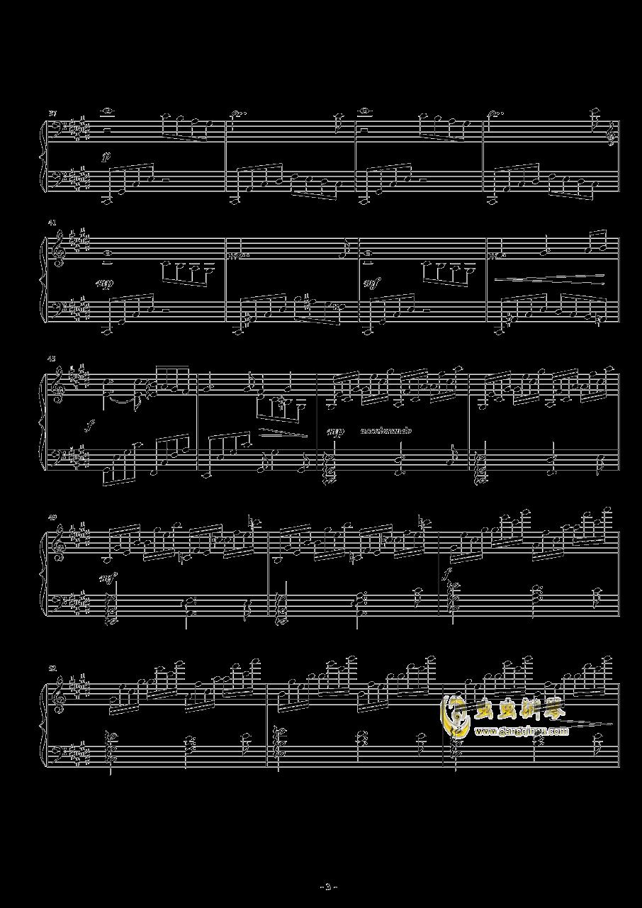 春花冬雪钢琴谱 第3页