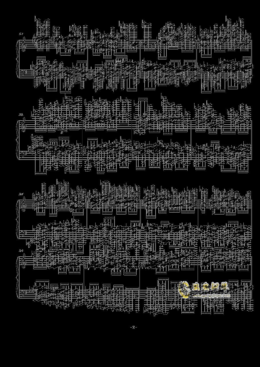 火星大炮钢琴谱 第2页