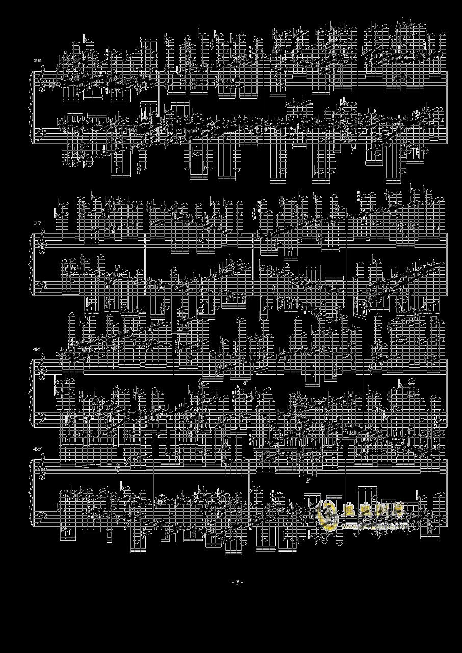 火星大炮钢琴谱 第3页