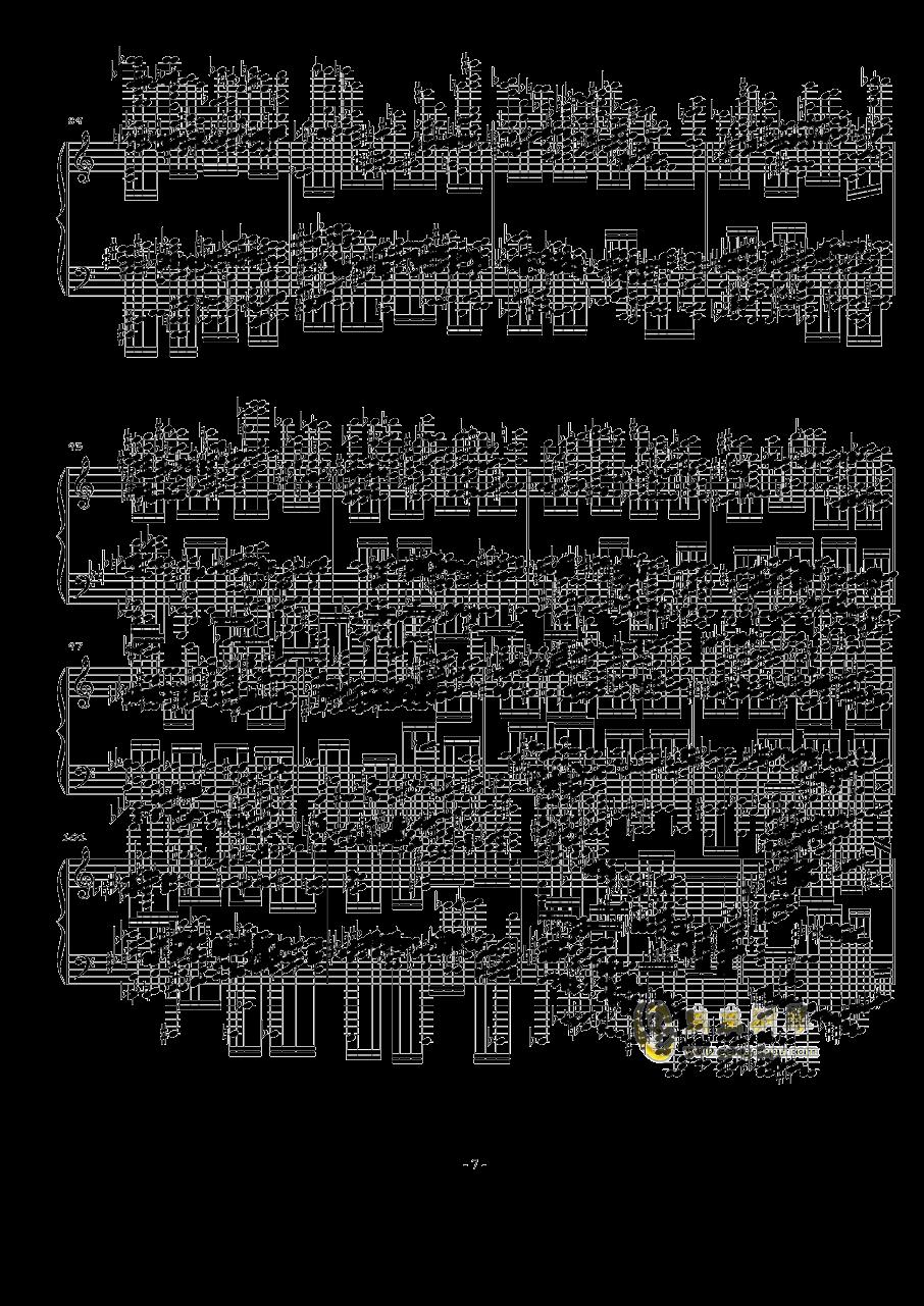 火星大炮钢琴谱 第7页