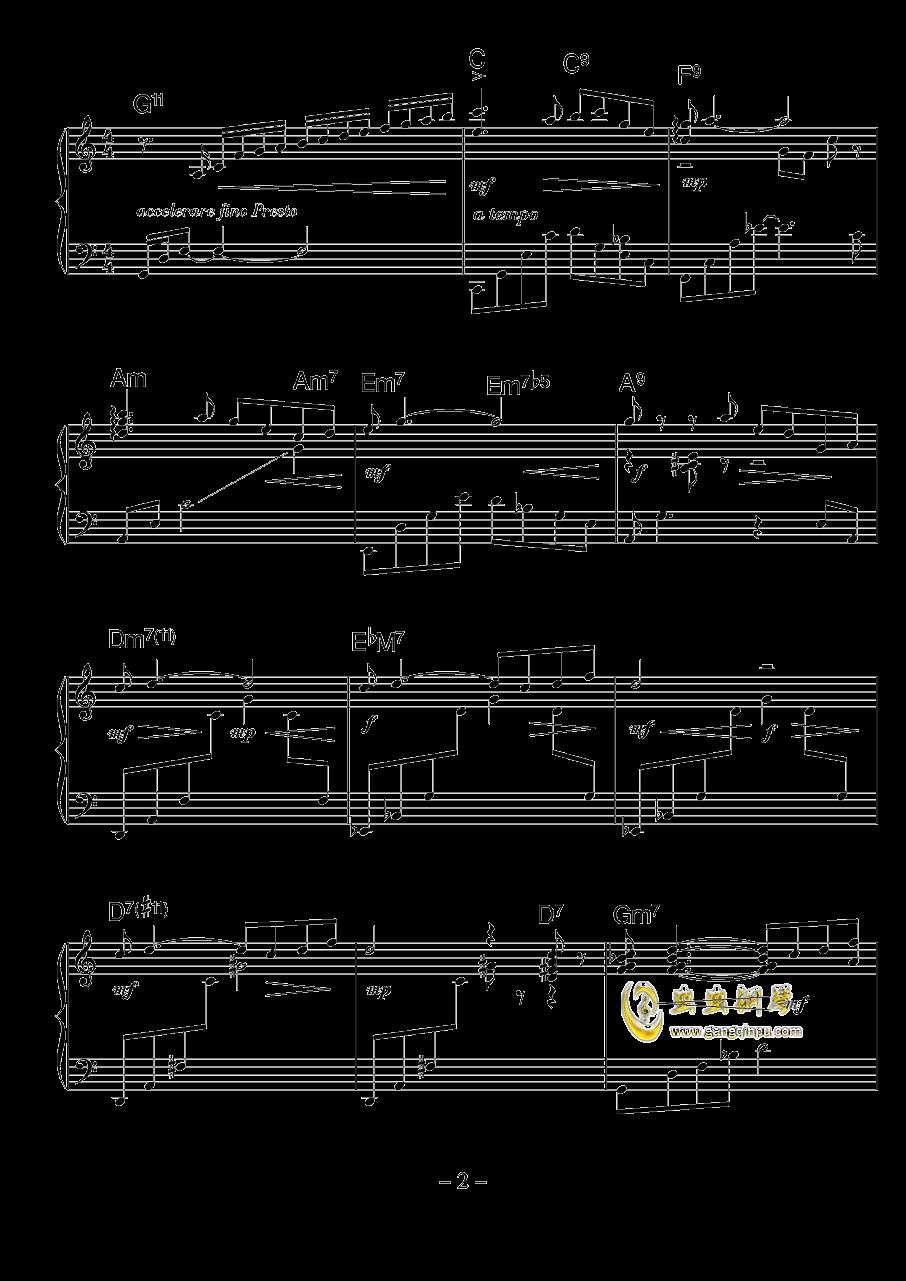 涅槃钢琴谱 第2页