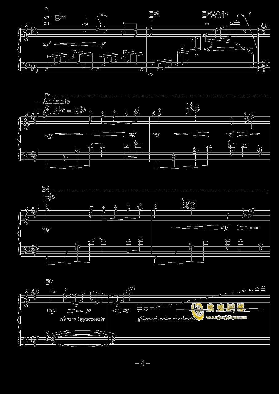 涅槃钢琴谱 第4页