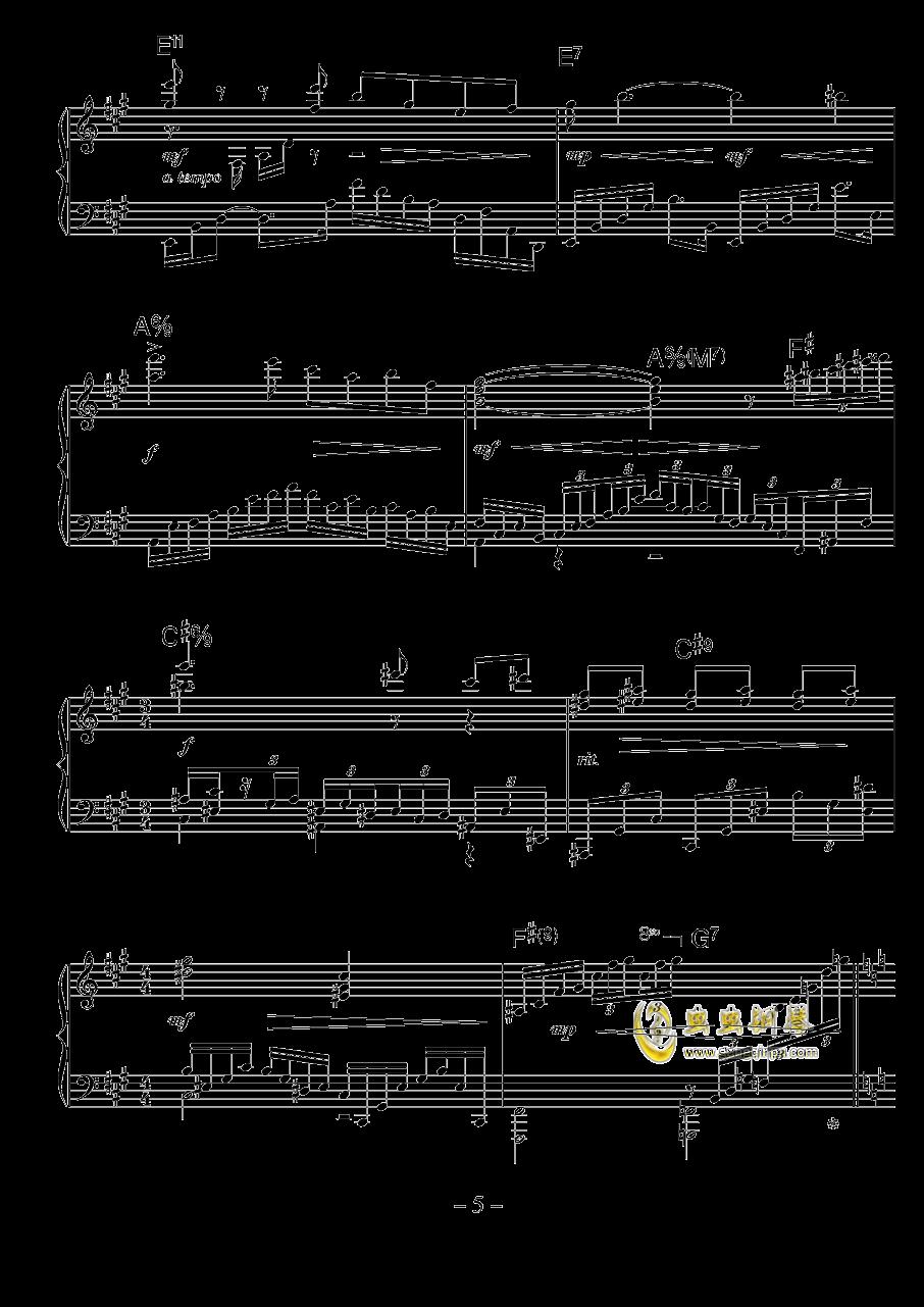 涅槃钢琴谱 第5页