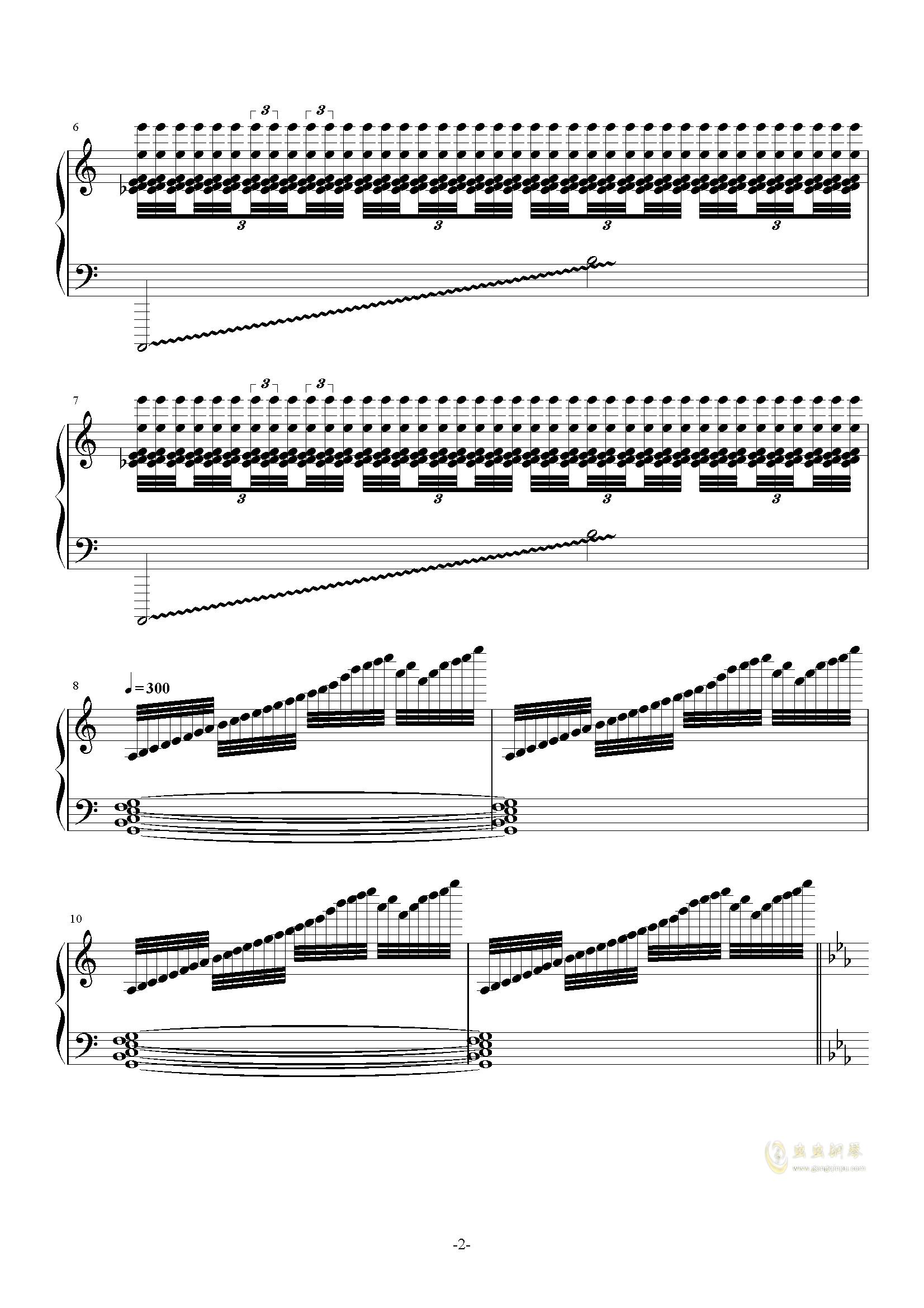 攻占土星钢琴谱 第2页