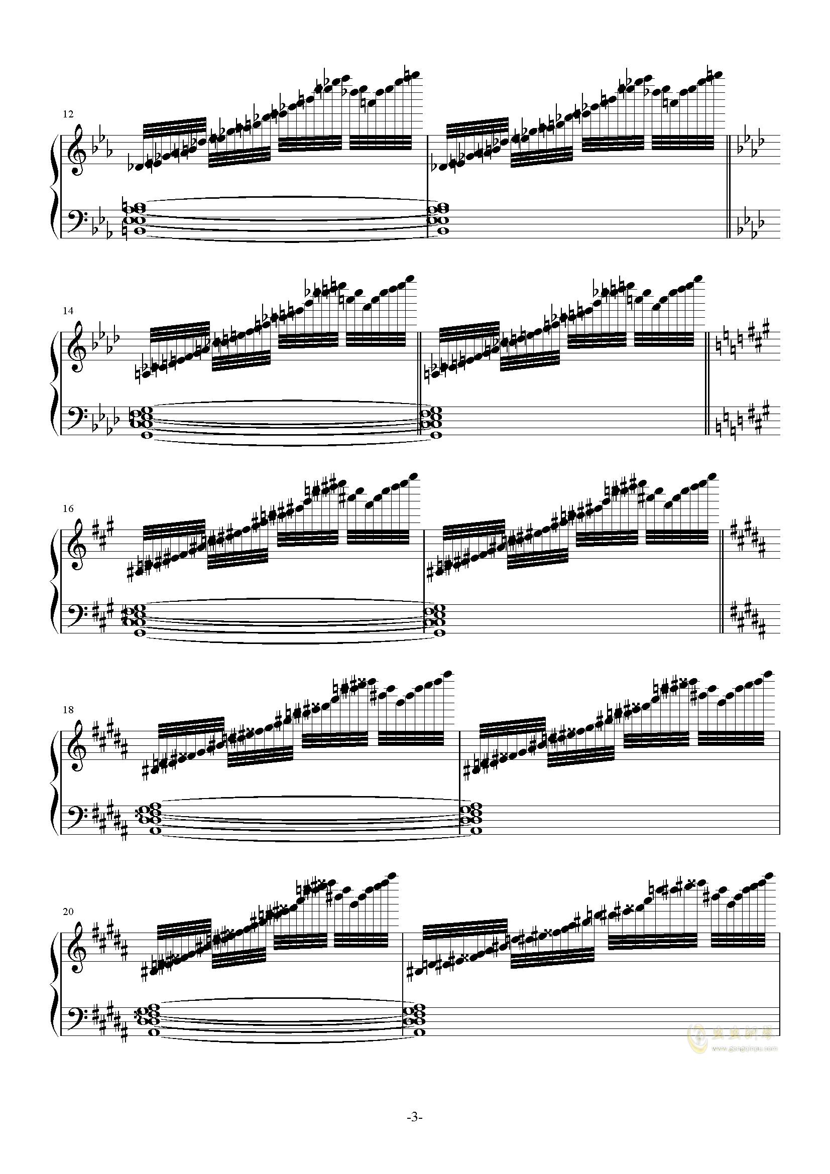 攻占土星钢琴谱 第3页