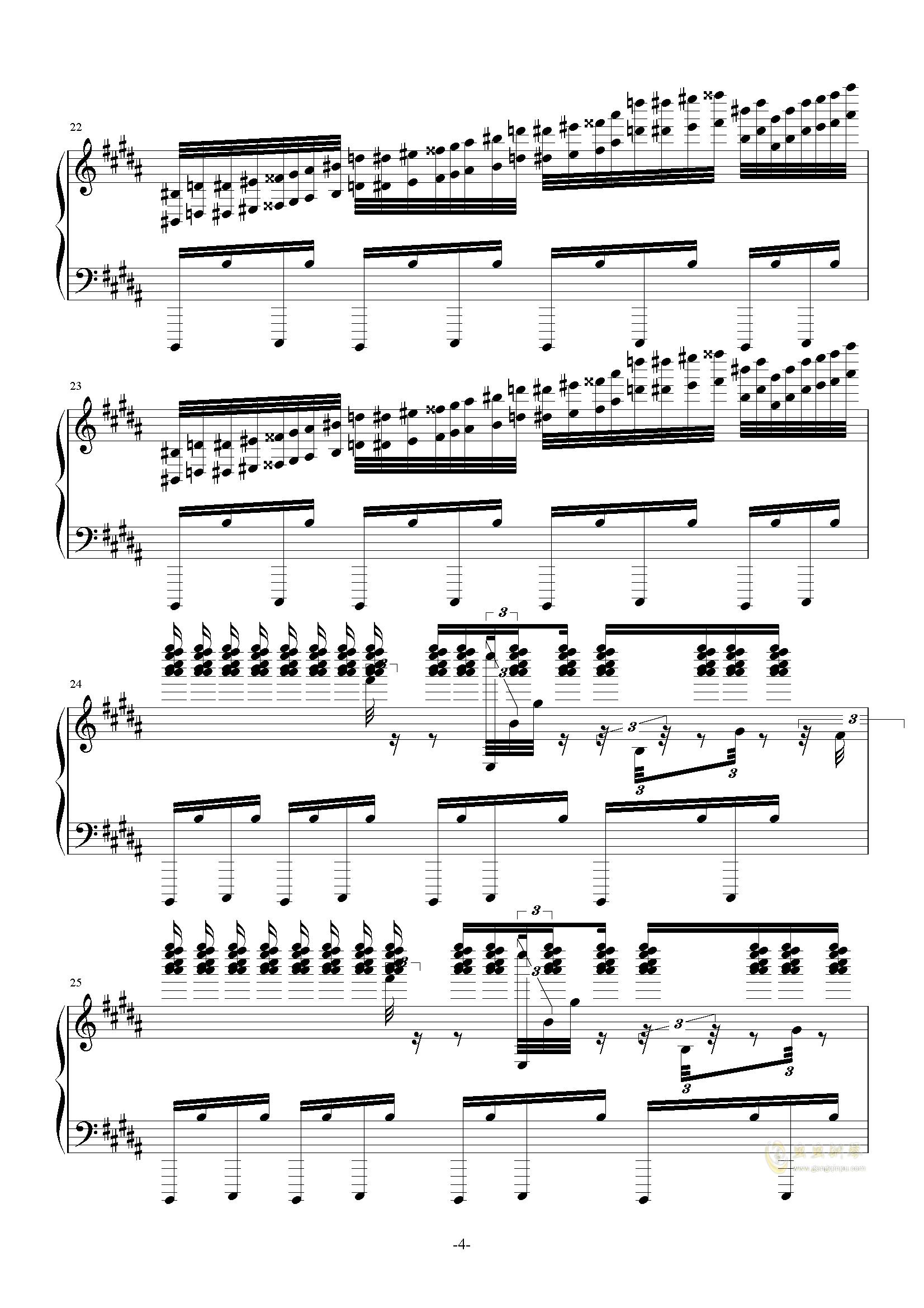 攻占土星钢琴谱 第4页