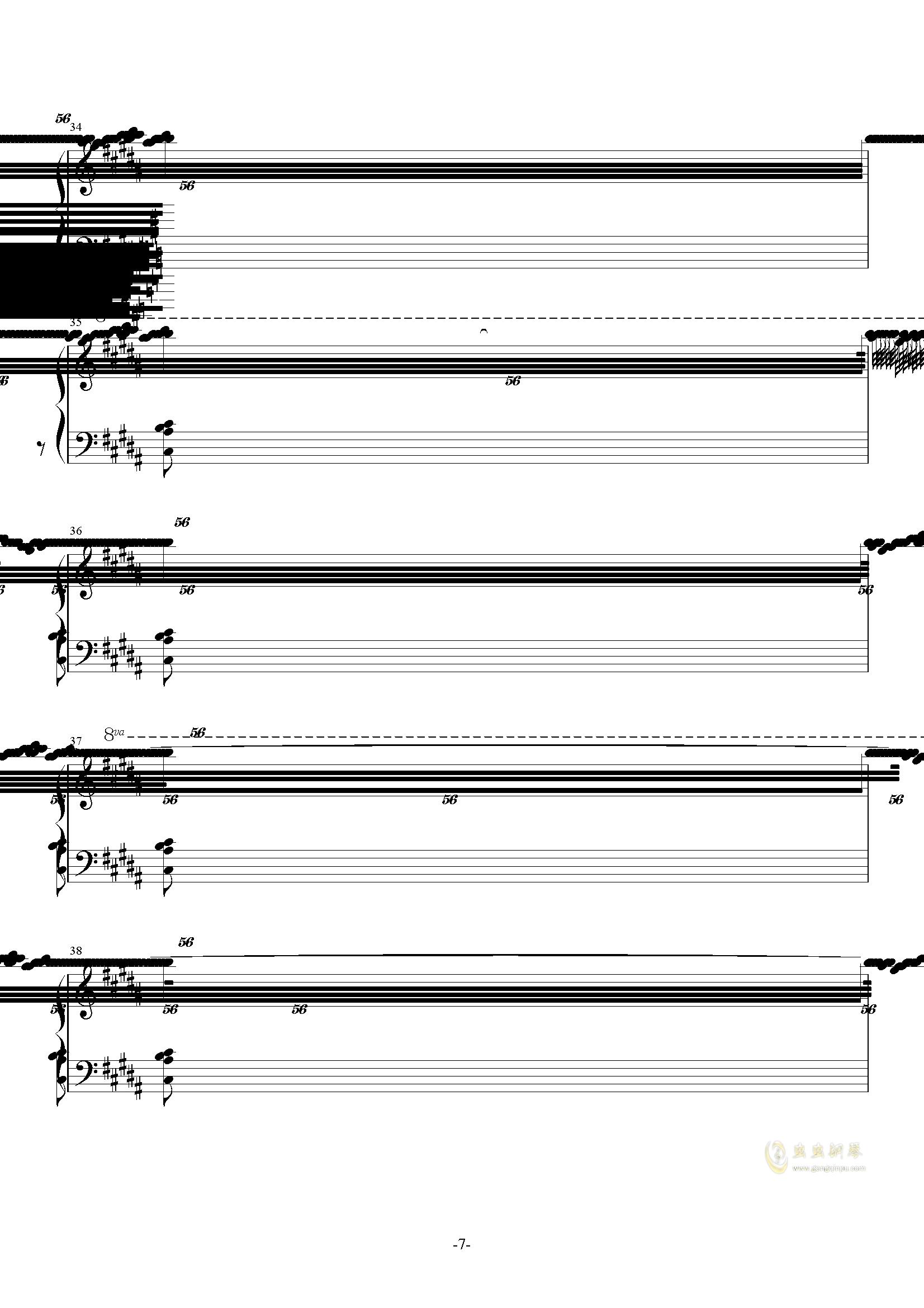 攻占土星钢琴谱 第7页