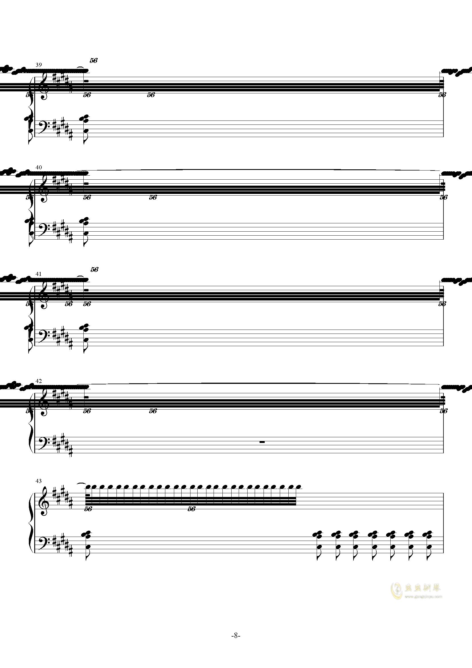 攻占土星钢琴谱 第8页