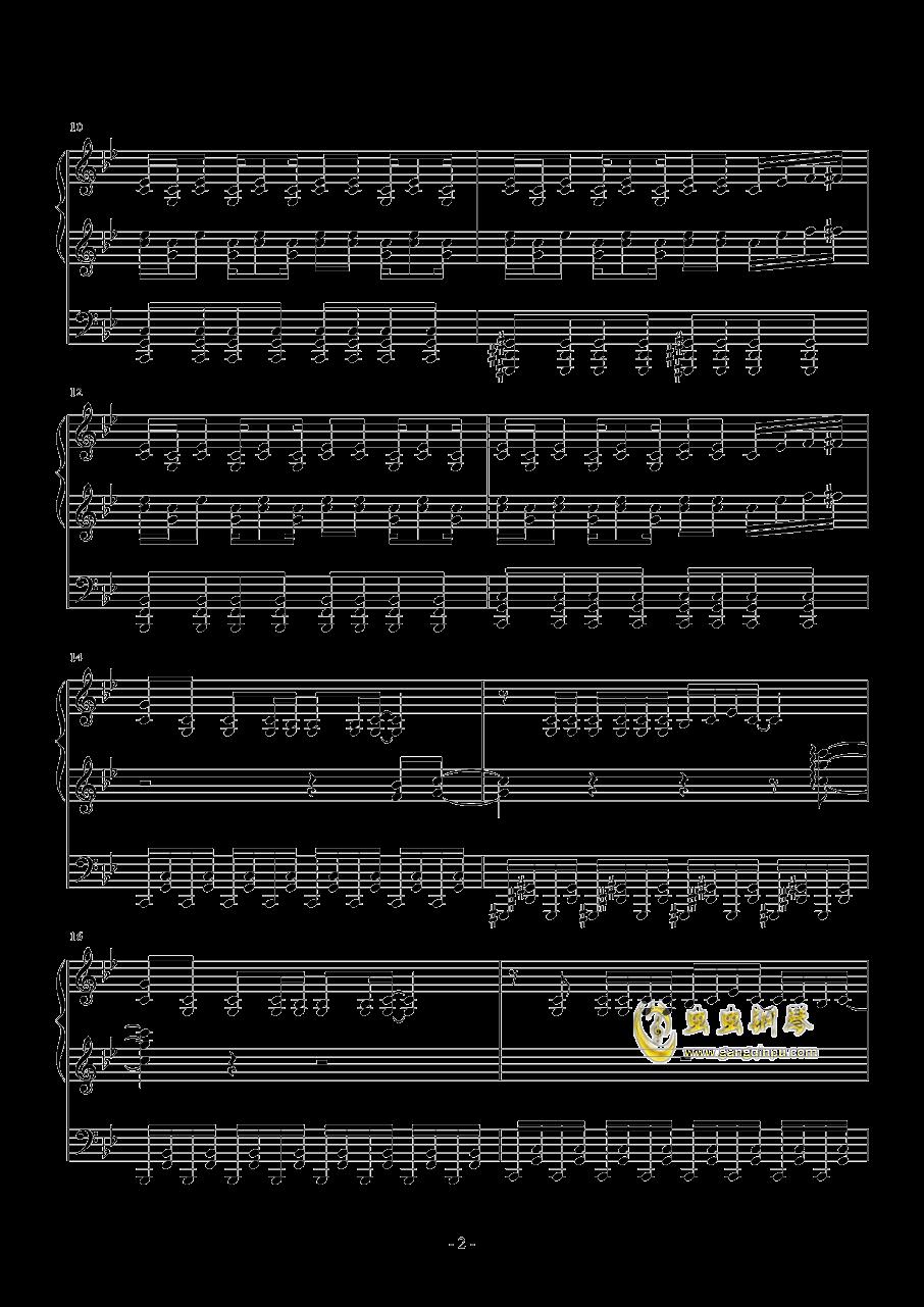 Borderland钢琴谱 第2页