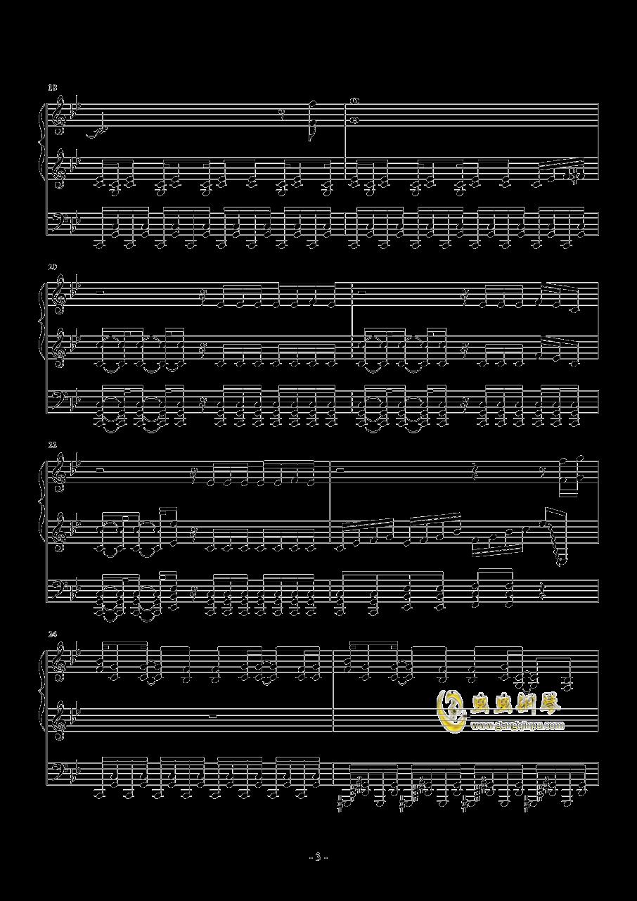Borderland钢琴谱 第3页