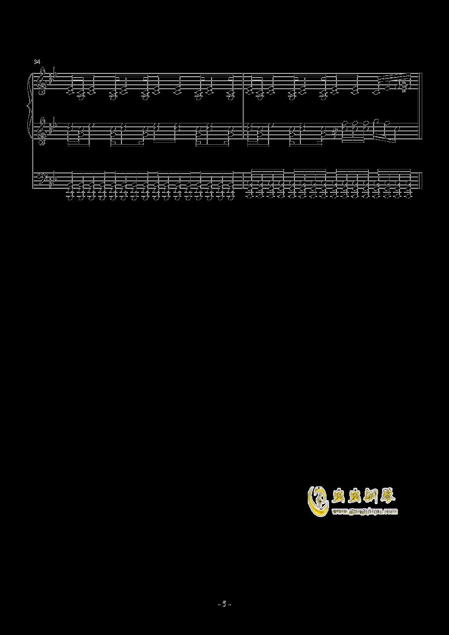 Borderland钢琴谱 第5页