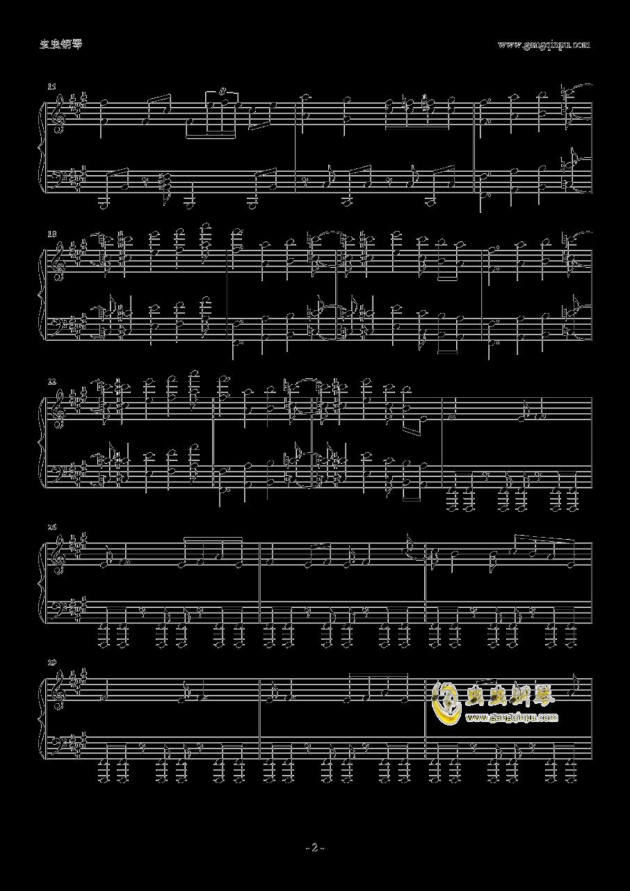 ヒ�`ロ�`治疗�a钢琴谱 第2页