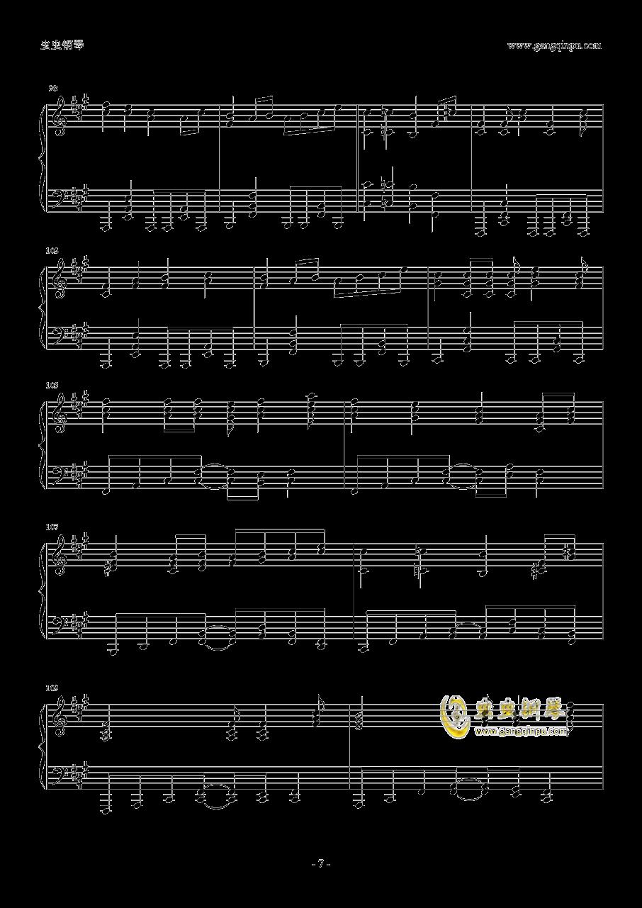 ヒ�`ロ�`治疗�a钢琴谱 第7页