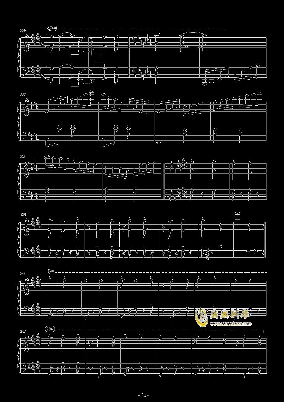 爆乳音头钢琴谱 第10页