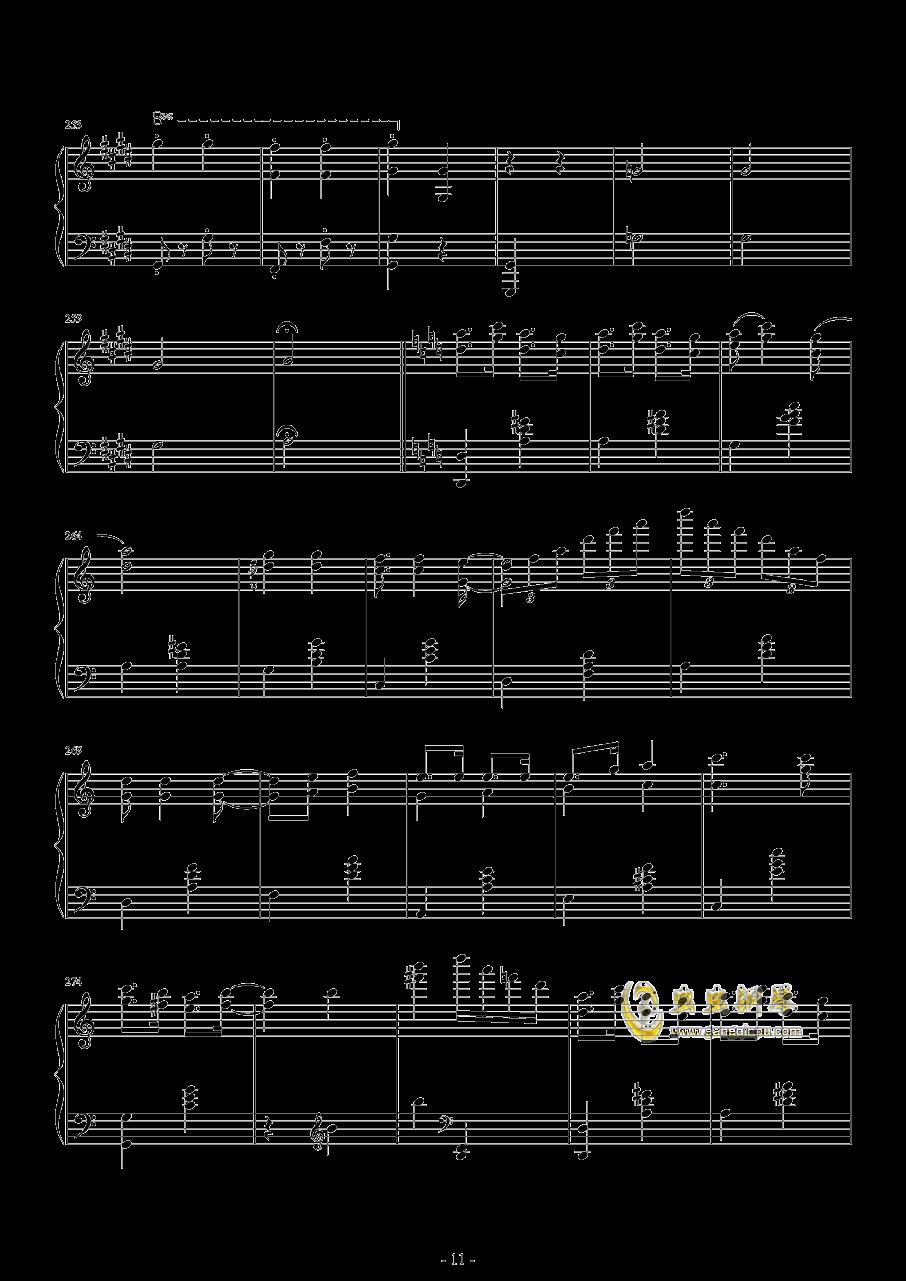 爆乳音头钢琴谱 第11页