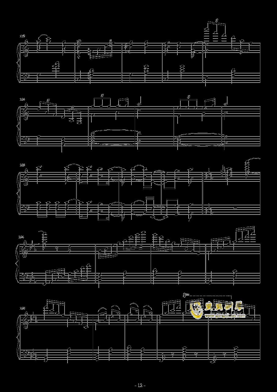爆乳音头钢琴谱 第12页