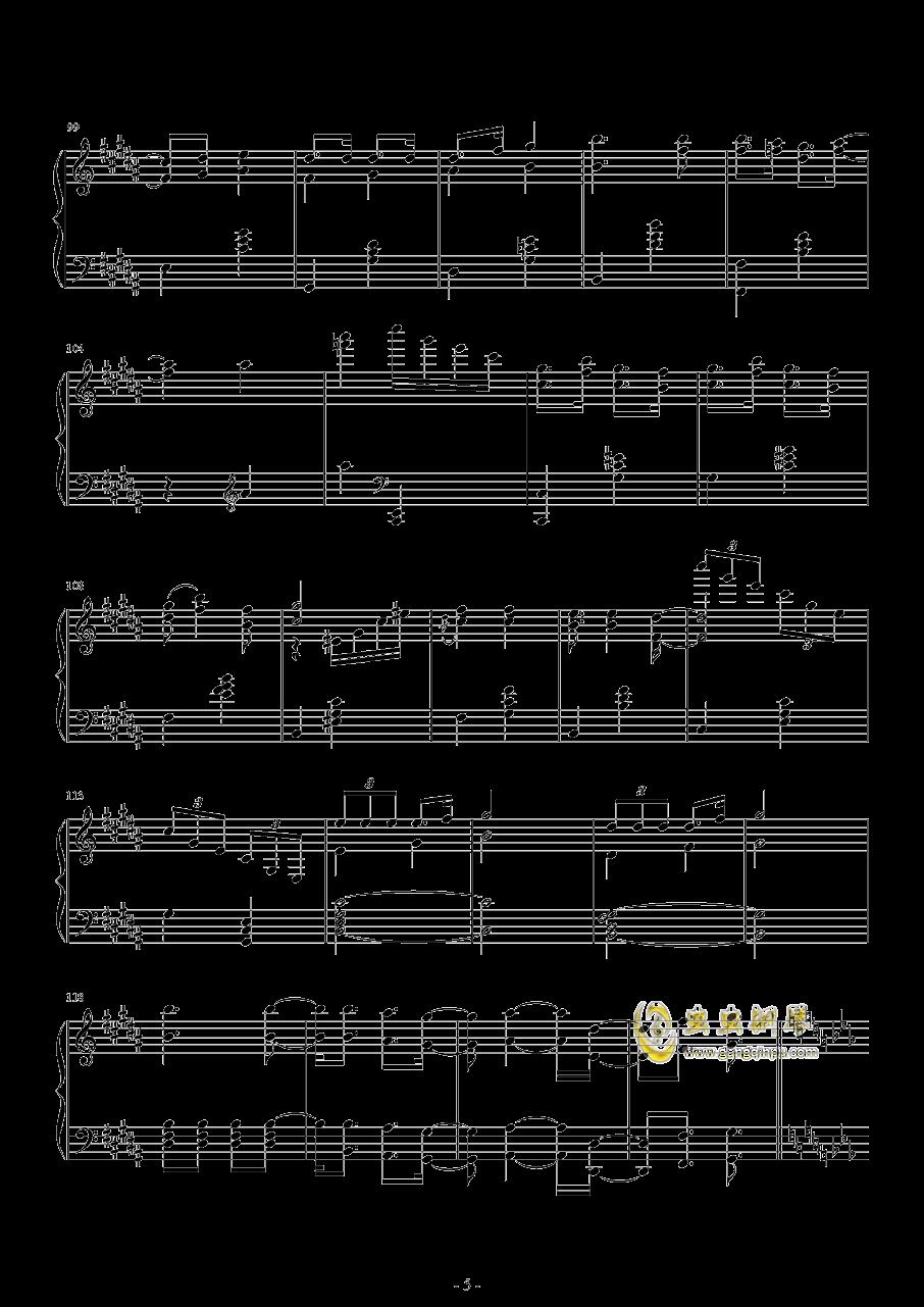 爆乳音头钢琴谱 第5页