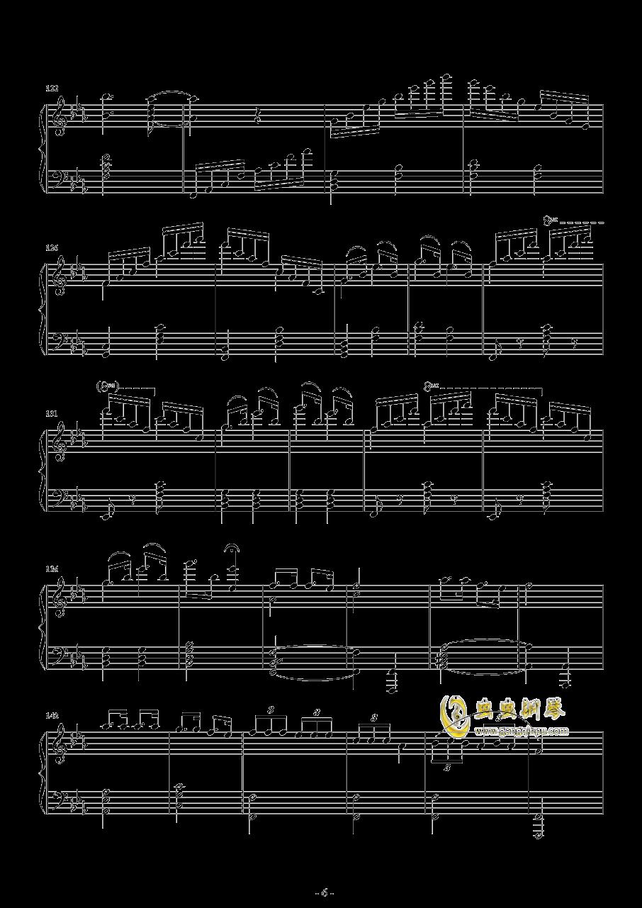 爆乳音头钢琴谱 第6页