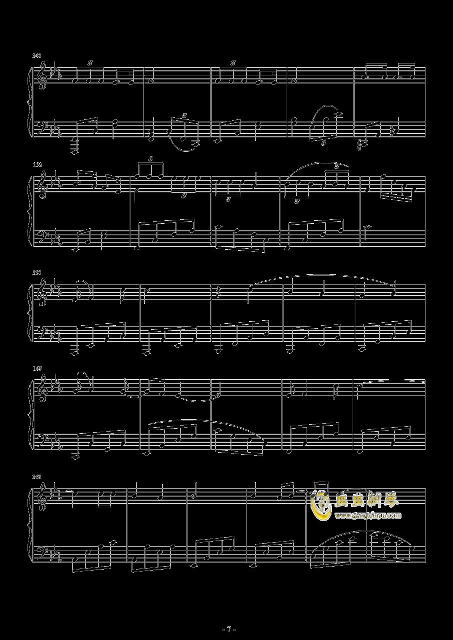 爆乳音头钢琴谱 第7页