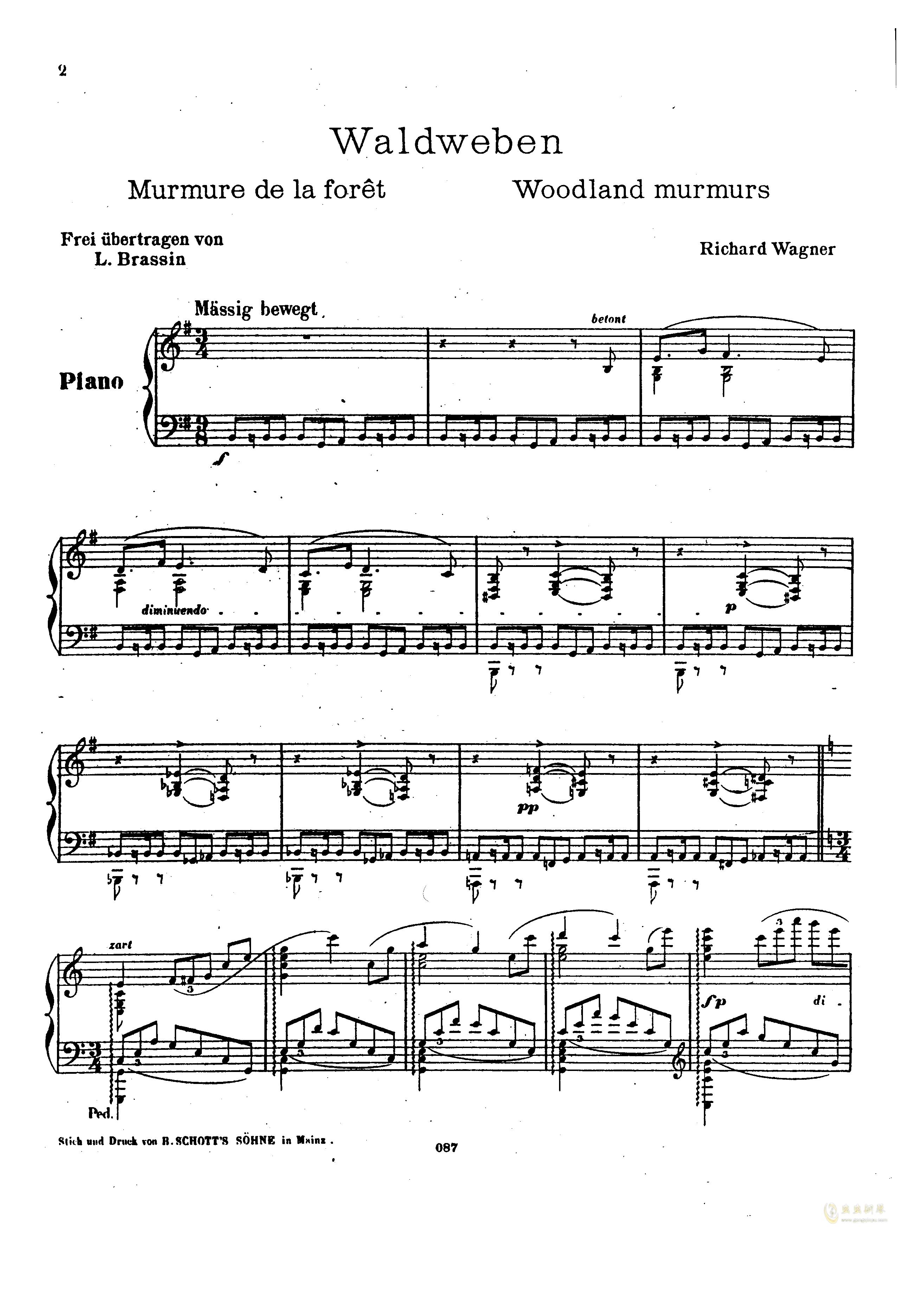 瓦格纳钢琴谱 第1页
