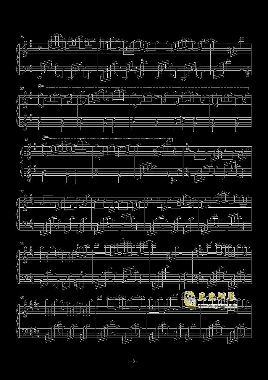 针叶林的幻想钢琴谱 第2页