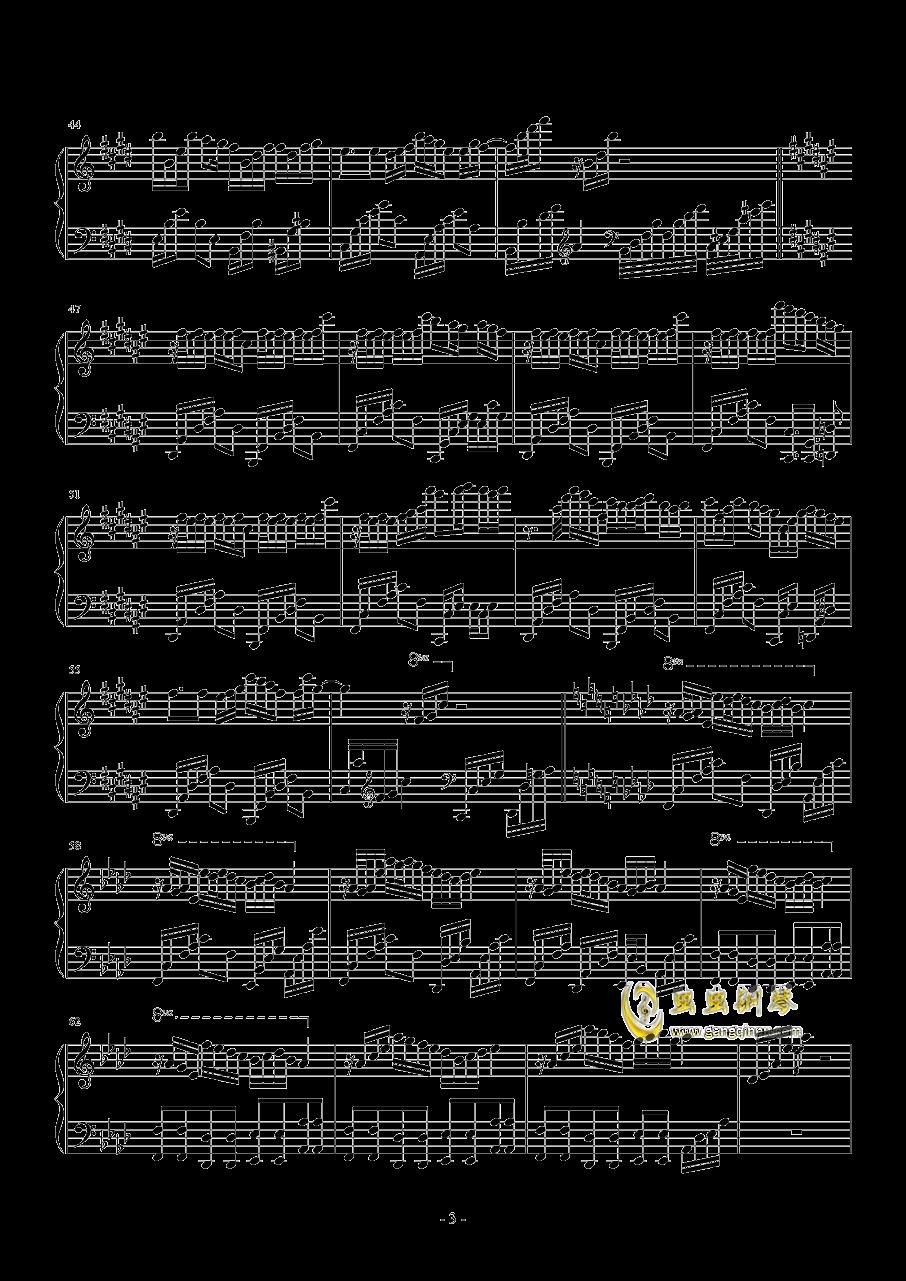 针叶林的幻想钢琴谱 第3页