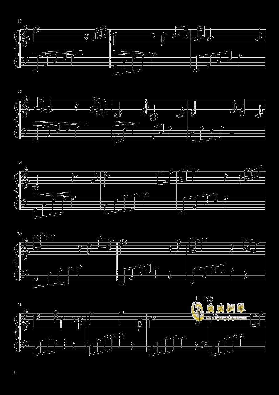 伤感的钢琴曲钢琴谱 第2页