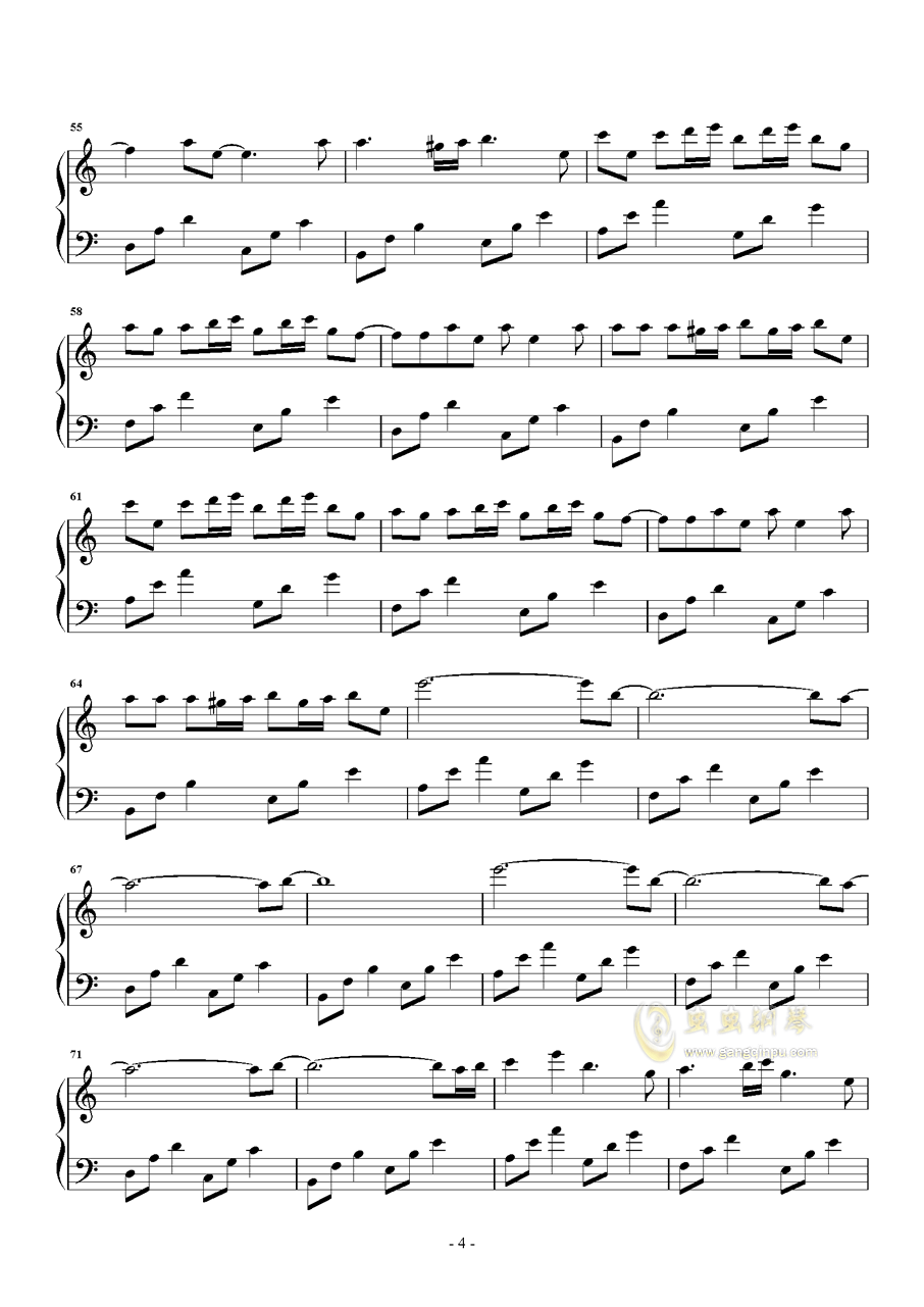 Tassel钢琴谱 第4页