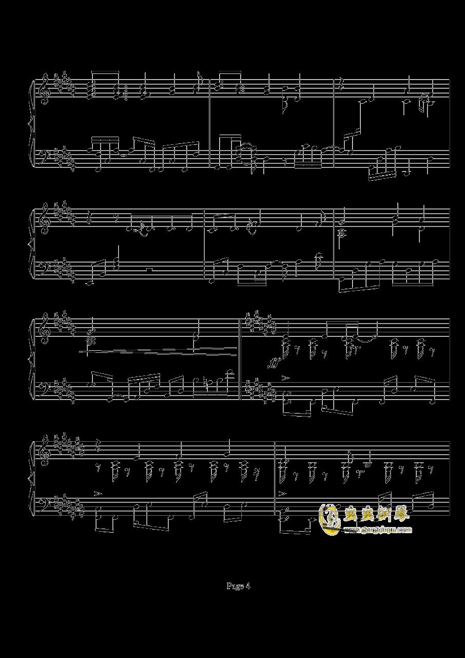 鸟之诗钢琴谱 第4页