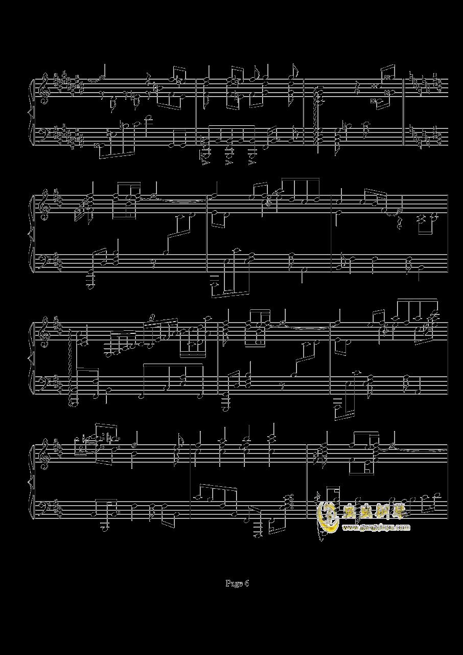 鸟之诗钢琴谱 第6页