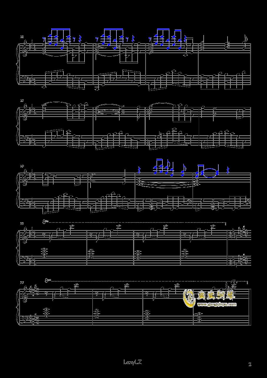 菊次郎的夏天OST Mother(The Rain 短版)久石让钢琴谱 第2页