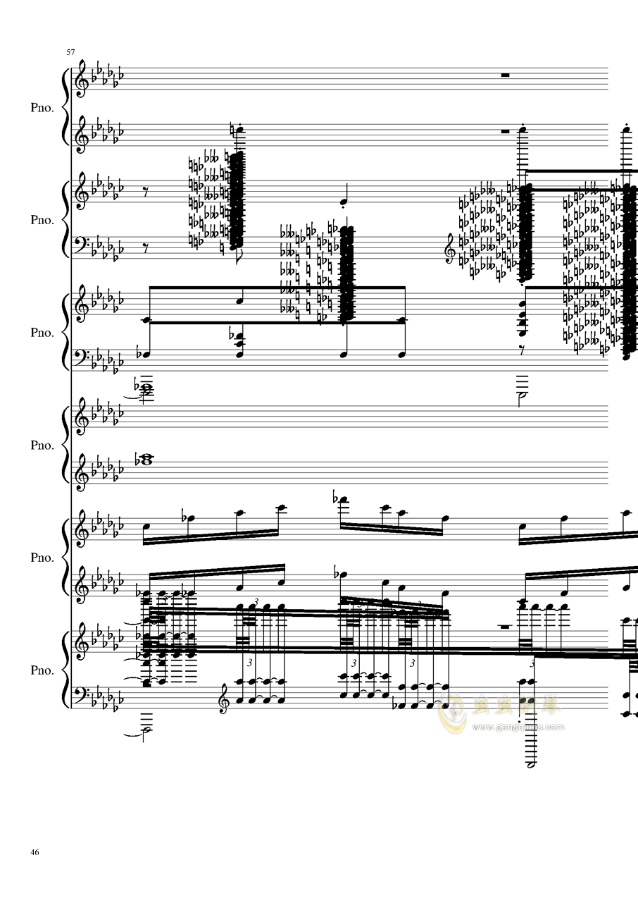 圆周率钢琴谱 第46页