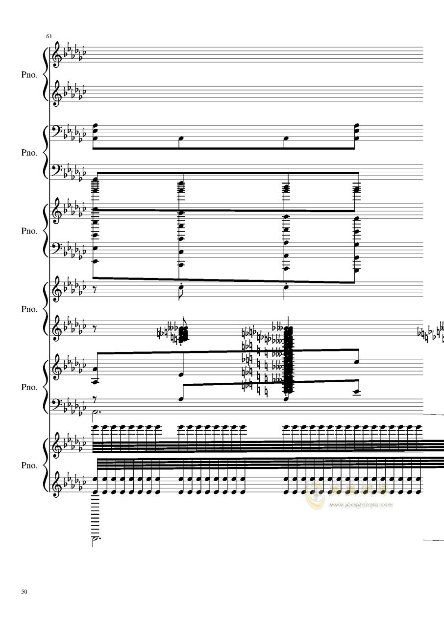 圆周率钢琴谱 第50页