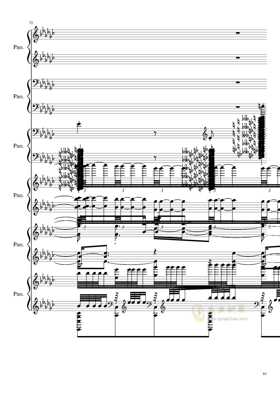 圆周率钢琴谱 第61页