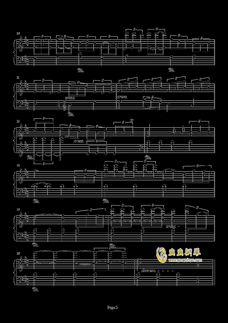 阴阳师庭院主题曲一钢琴谱 第2页