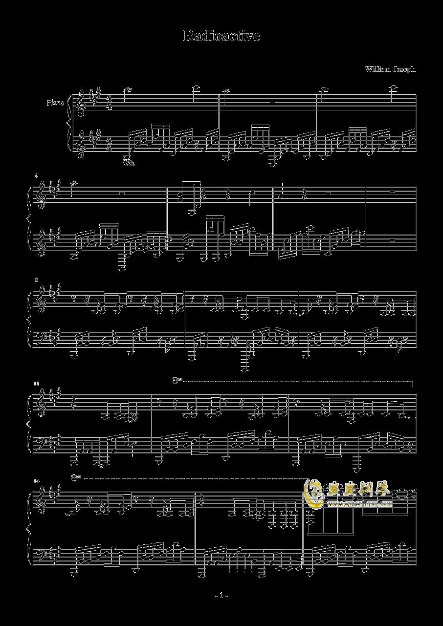 Radioactive钢琴谱 第1页