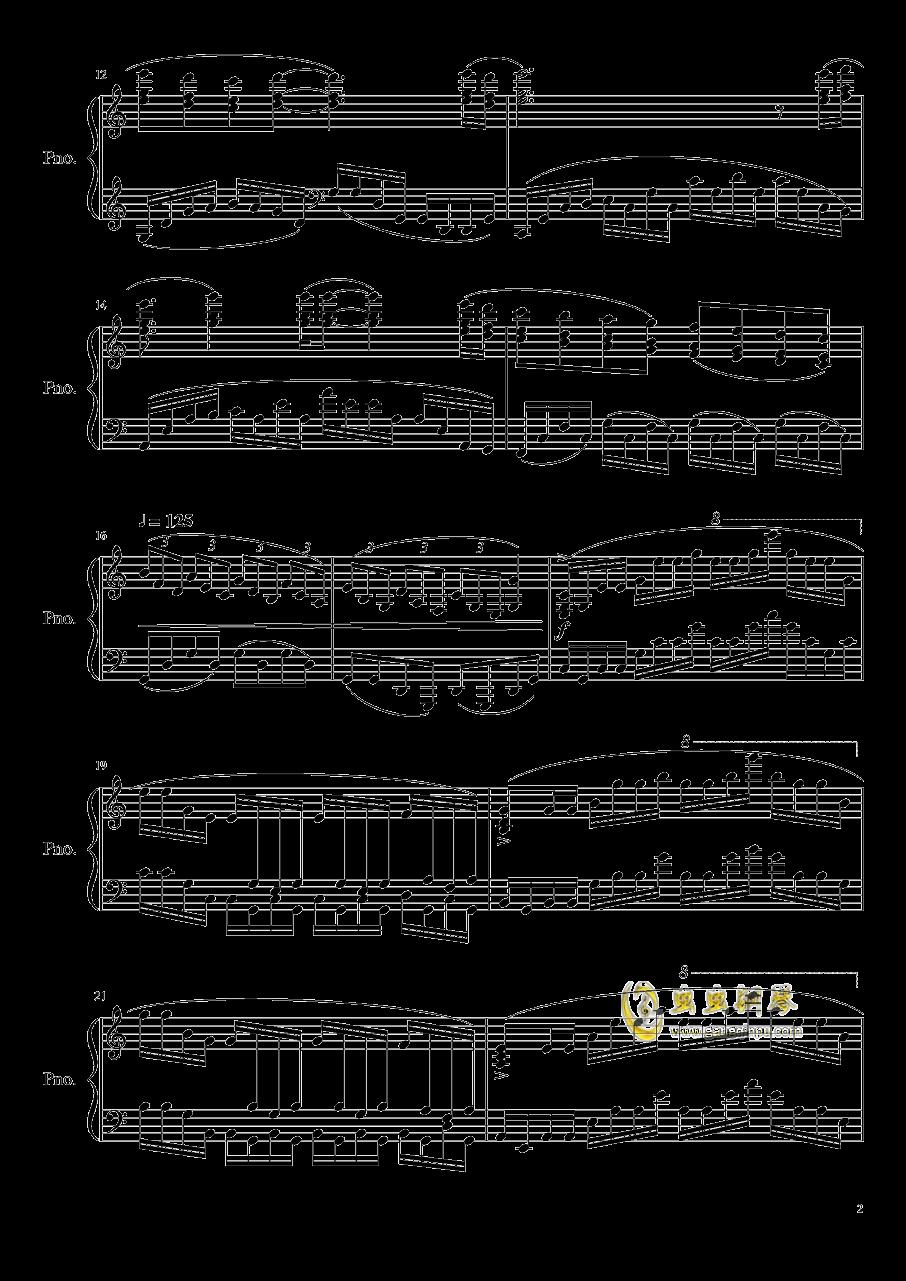 筑梦钢琴谱 第2页