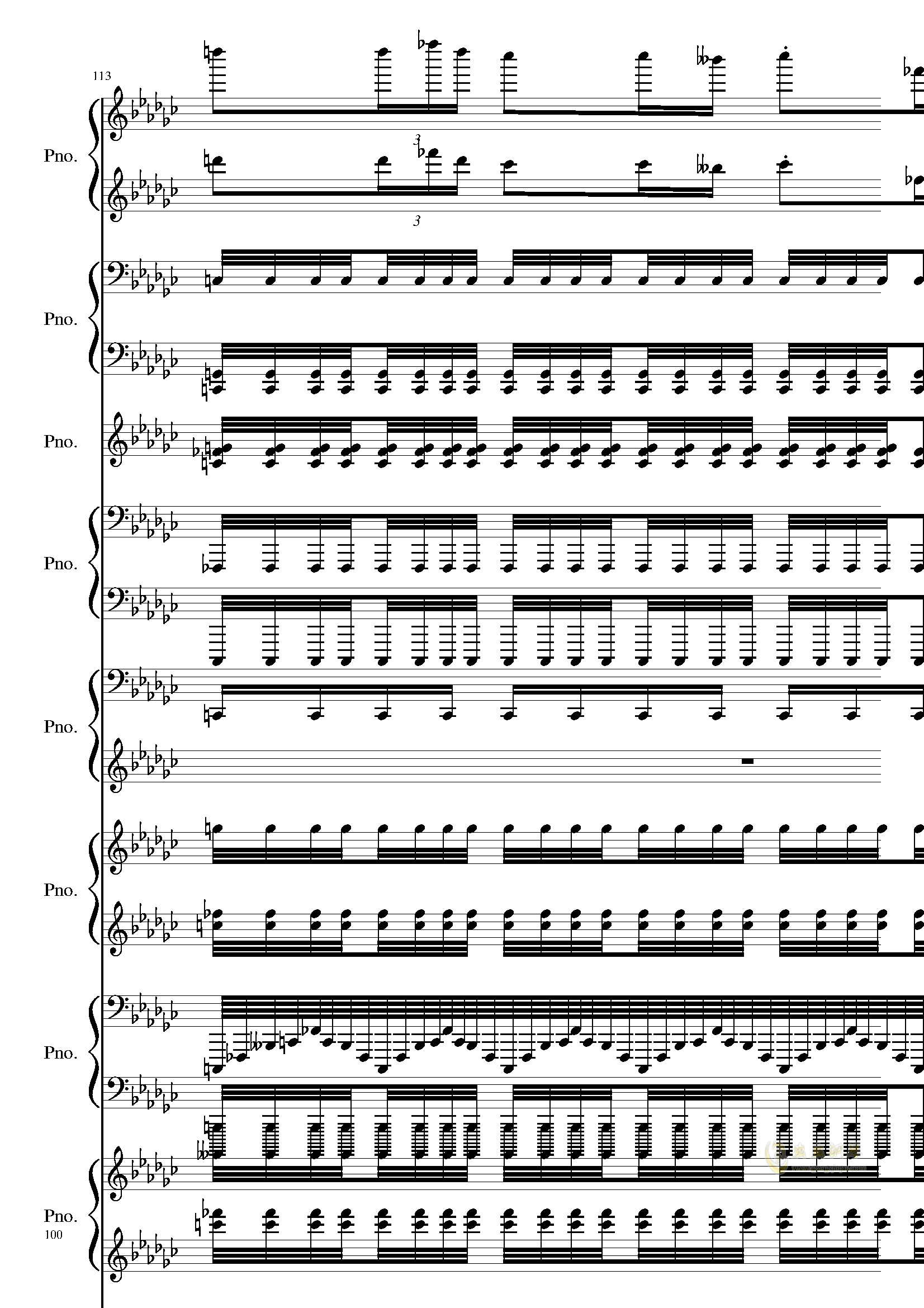Bad Apple钢琴谱 第100页