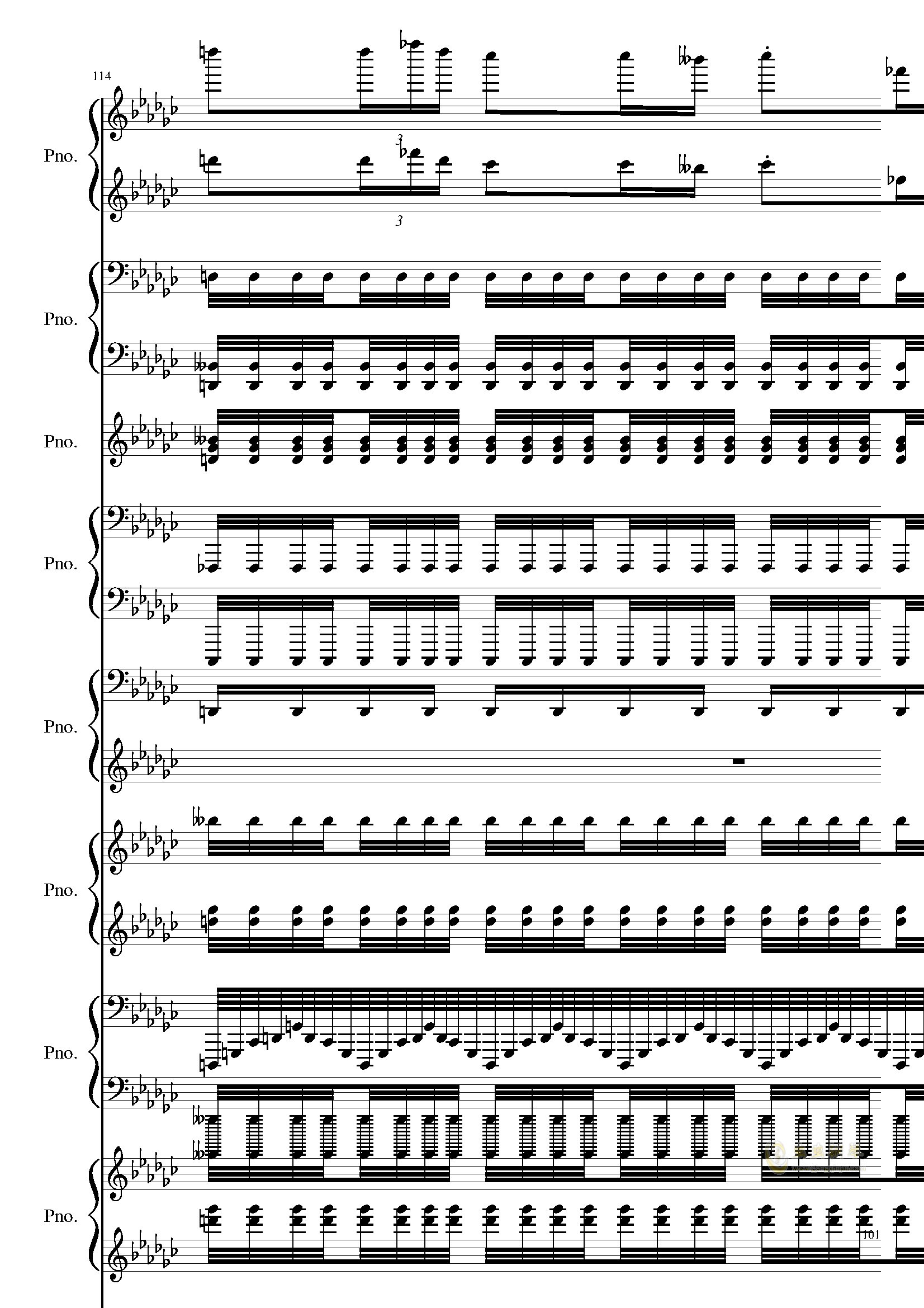 Bad Apple钢琴谱 第101页