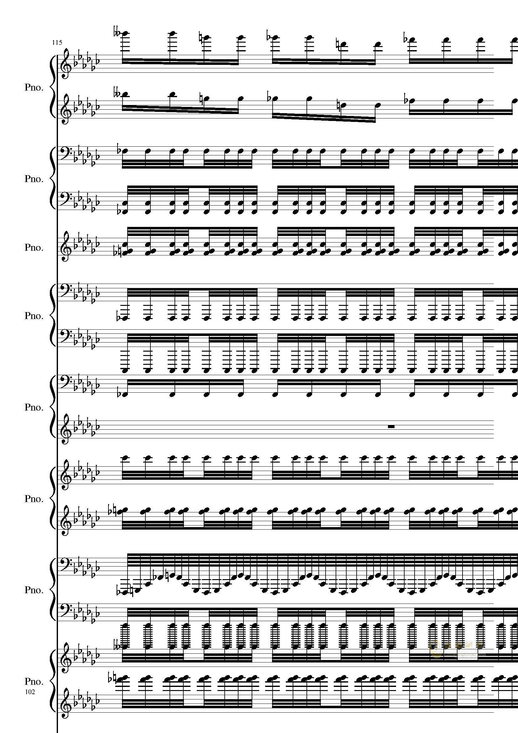 Bad Apple钢琴谱 第102页