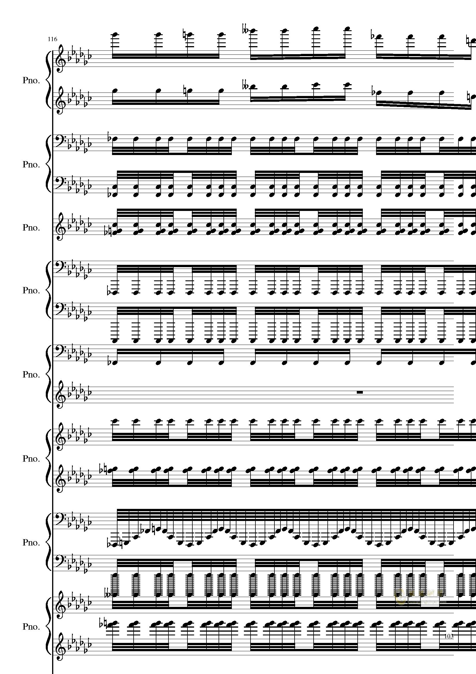 Bad Apple钢琴谱 第103页