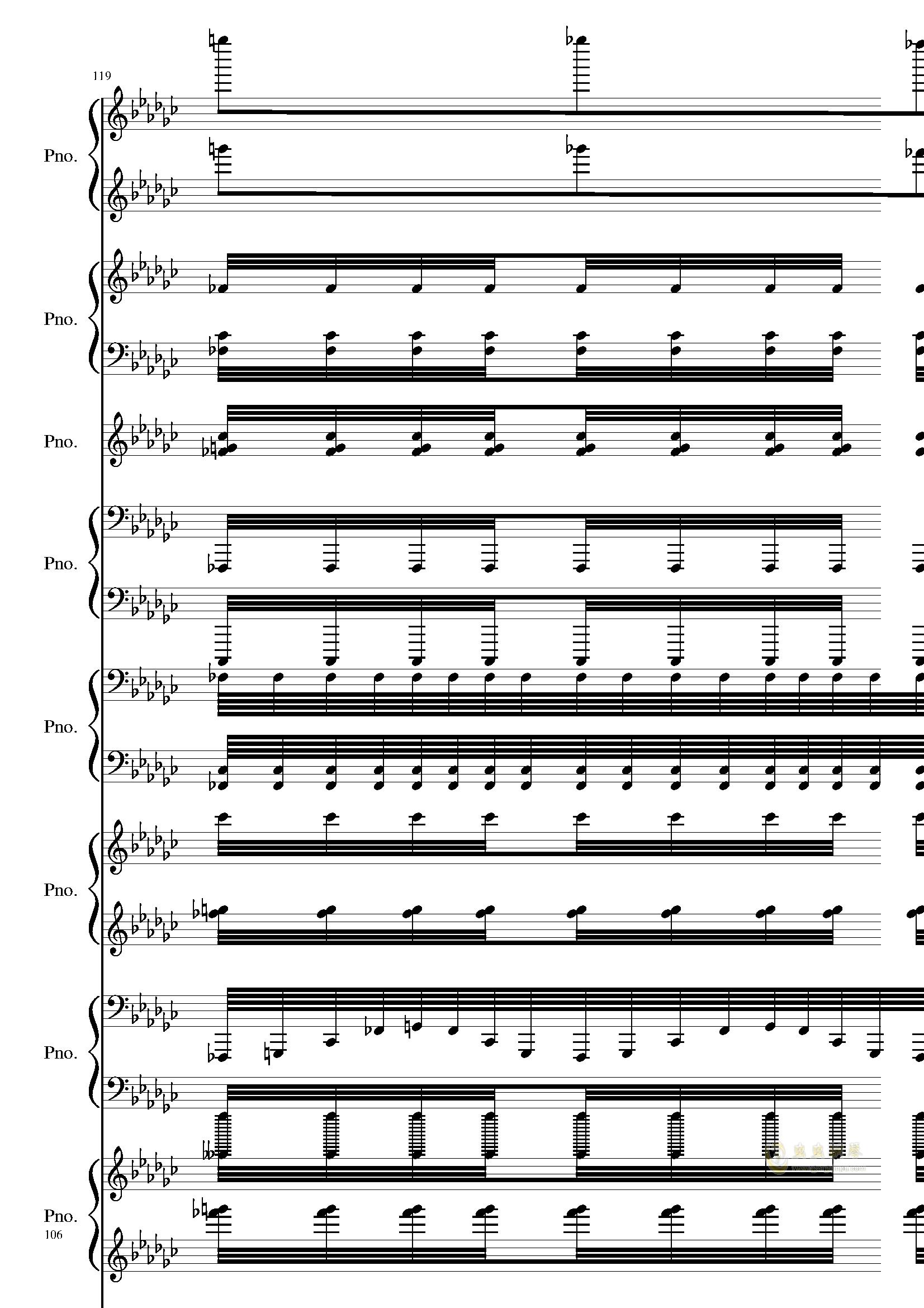 Bad Apple钢琴谱 第106页