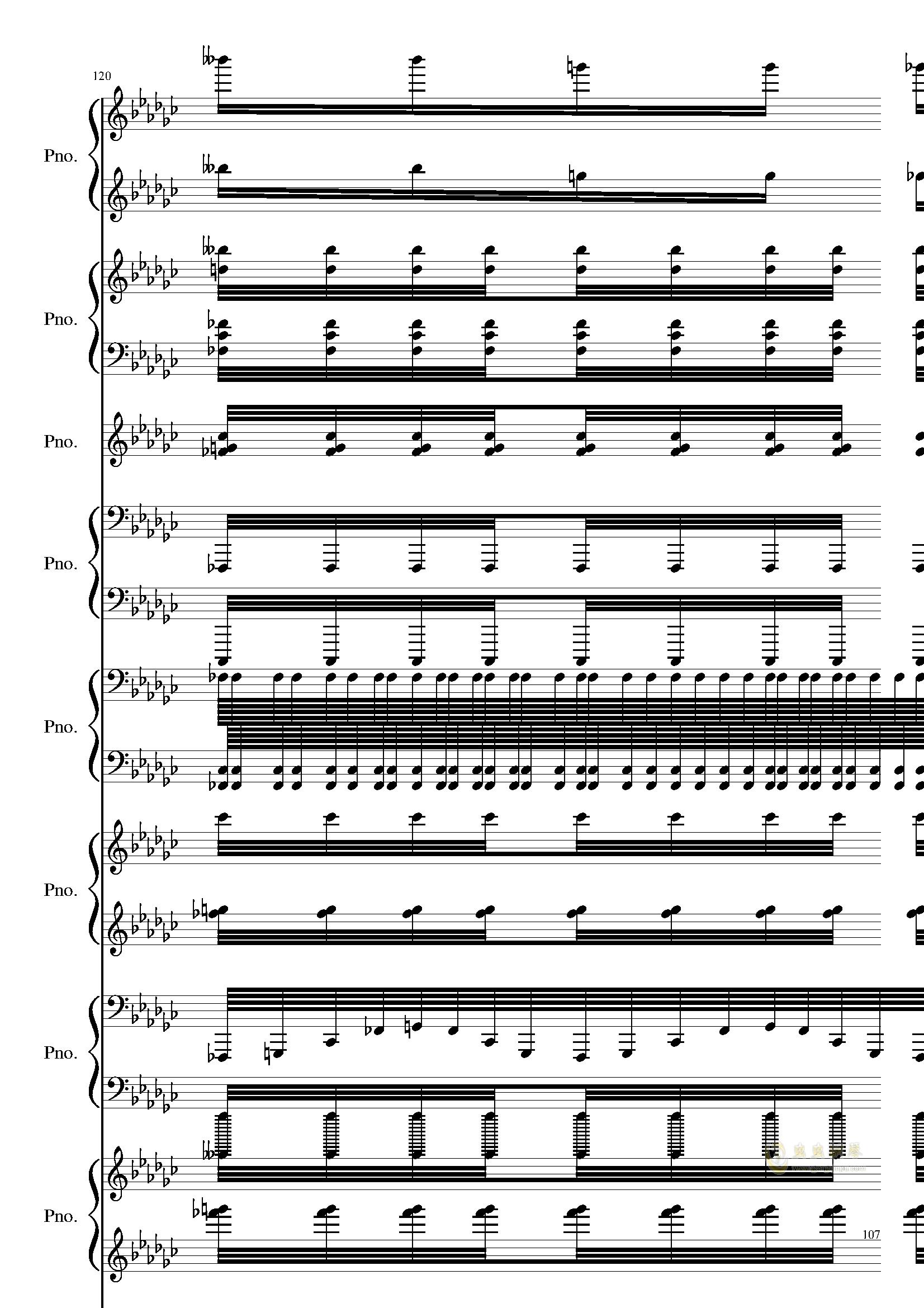 Bad Apple钢琴谱 第107页