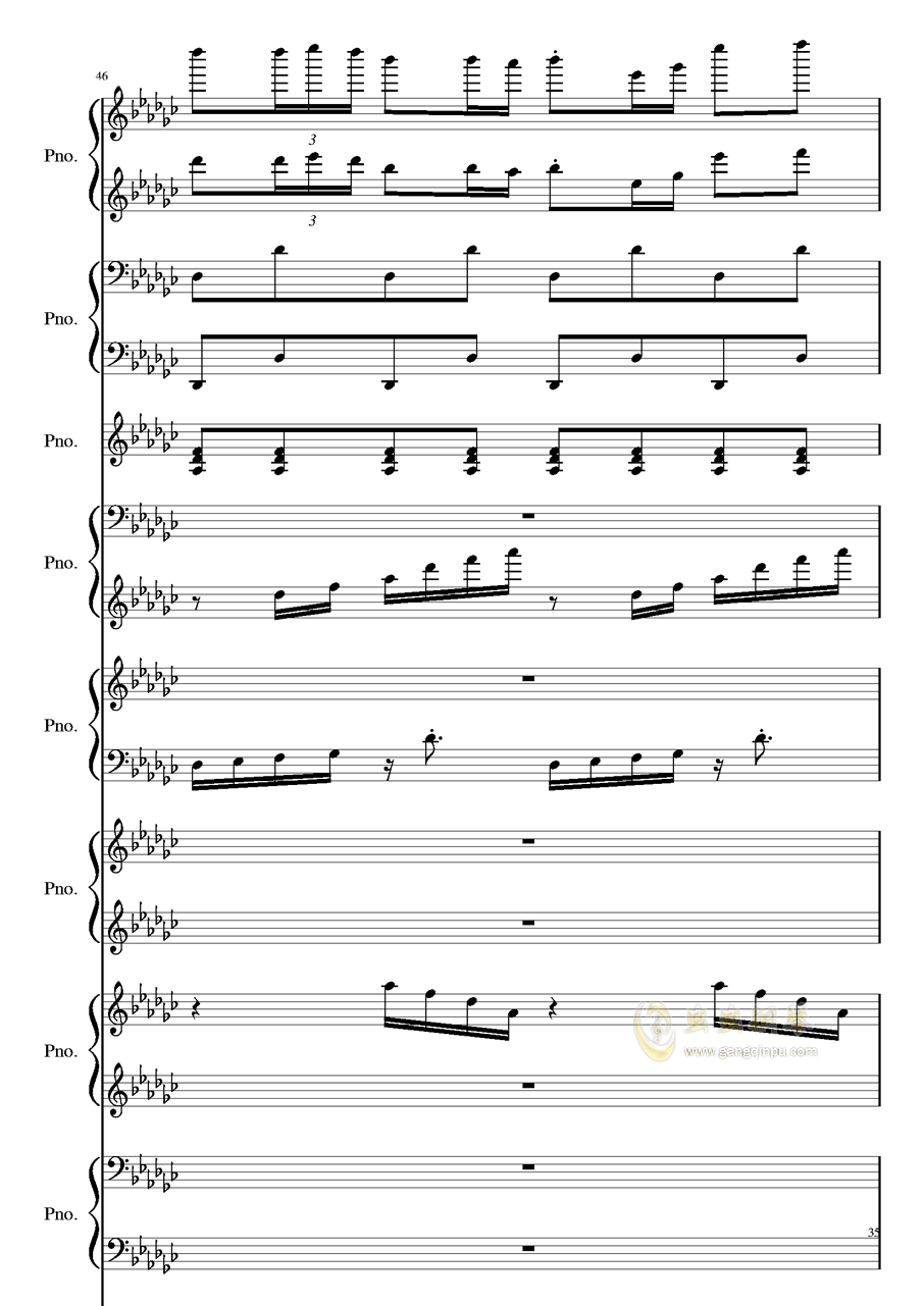 Bad Apple钢琴谱 第35页