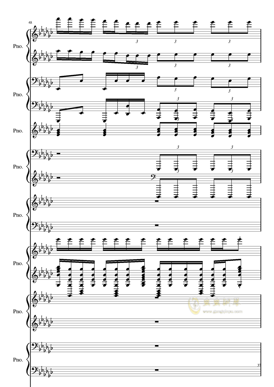 Bad Apple钢琴谱 第37页